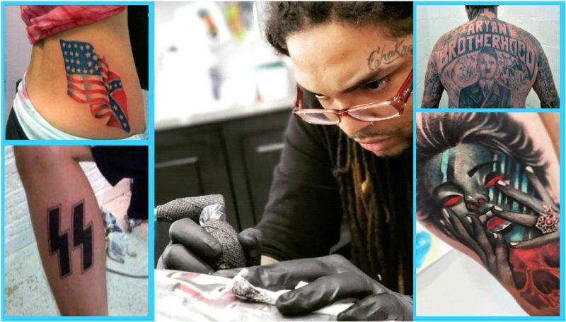 Dominicano hace tatuajes de paz y amor