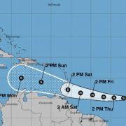 Tormenta tropical Gonzalo se fortalece y puede ser huracán