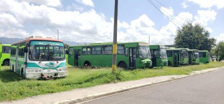 Solo tres autobuses de la Omsa laboran en Santiago
