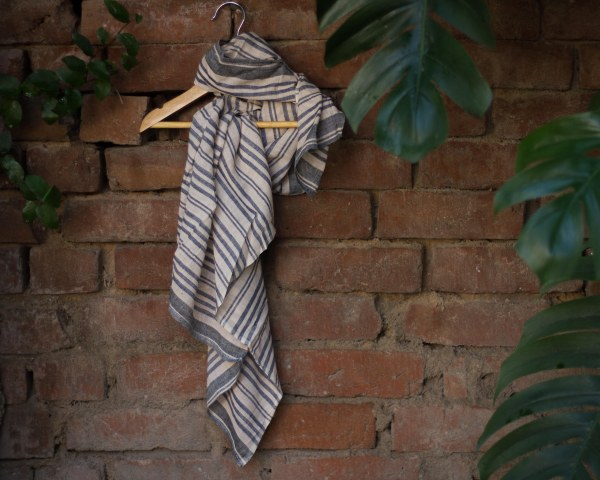 handloom cotton square scarf