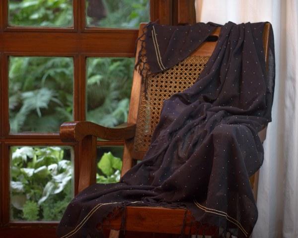 Handloom Dupatta hand embroidered zardozi