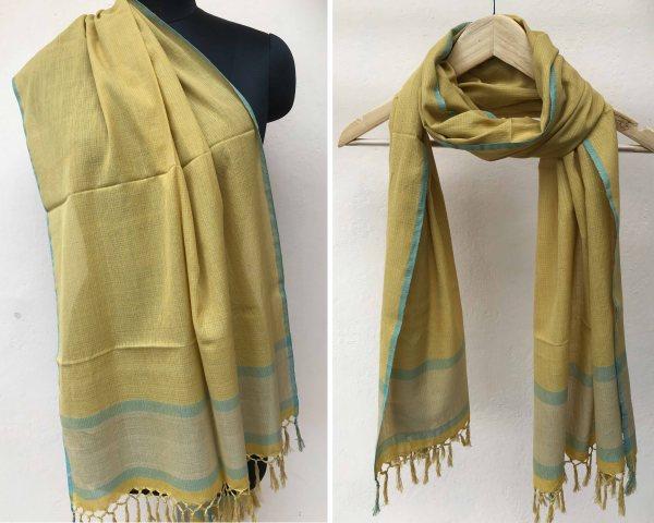 Handloom cotton scarf handmade handwoven in India