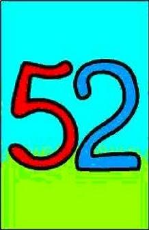 Carta de números 52