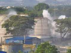 Pabrik gas bocor