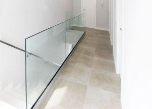 barandilla interior cristal guia suelo