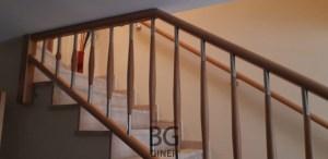 barandilla madera y acero interior
