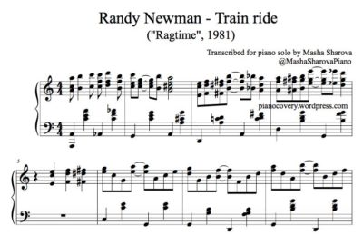 Partition de piano pdf Randy Newman Ragtime