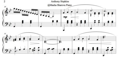extrait de la partition de la valse de anthony hopkins