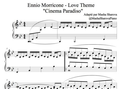 Partition de piano Cinema Paradiso par Ennio Morricone