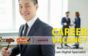 Job Vacancy Marcom Executive Cum Digital Specialist