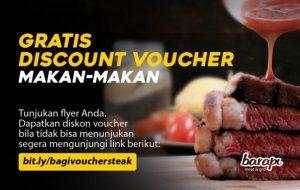 Gratis Discount Voucher Makan Steak
