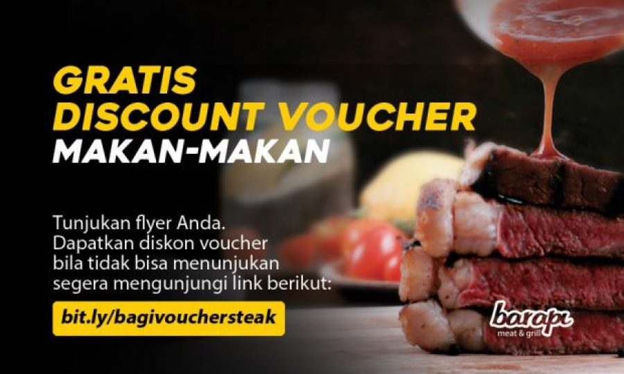 Gratis Discount Voucher Makan Steak