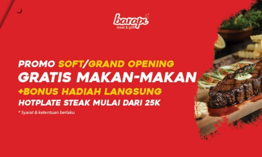 Barapi Dekatkan Steaklovers di Kota Tangerang