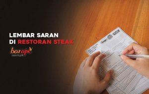 Lembar Saran di Restoran Steak