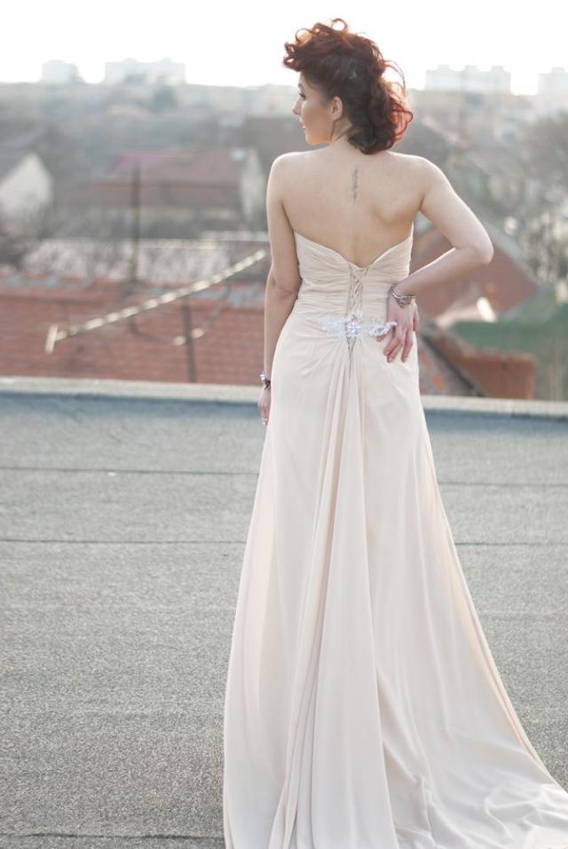 maxi champagne dress