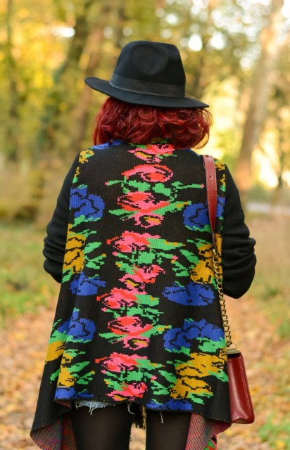 embroidery poncho