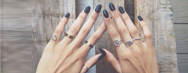 almond shape nails rings