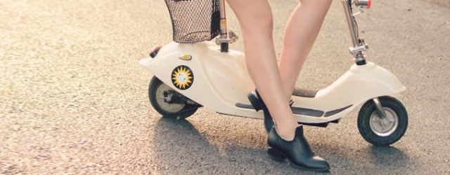 chain trim boots scooter