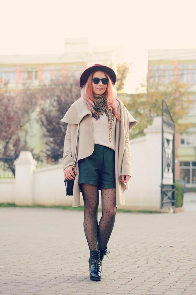 The classic coat hat boots