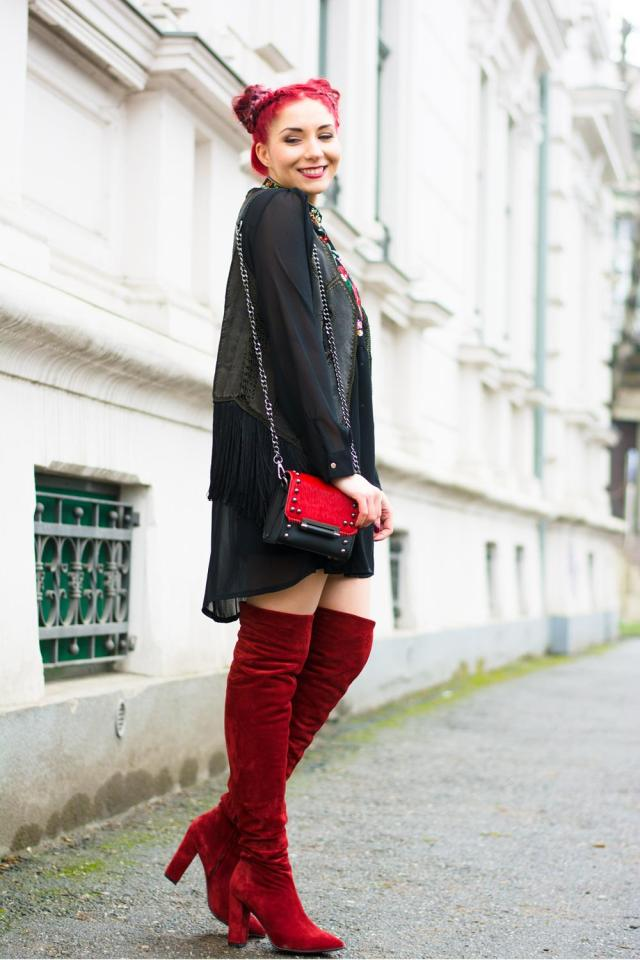 embroidered russian inspired dress