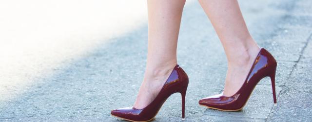 pantofi marsala piele