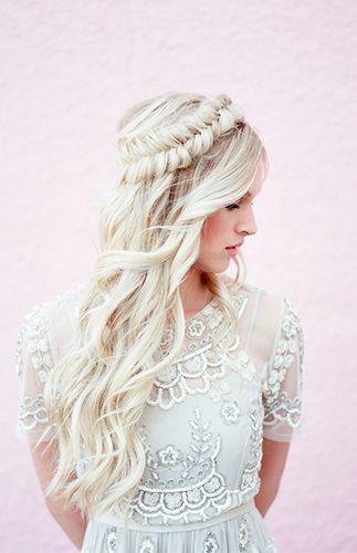 fishtail crown brai for brides