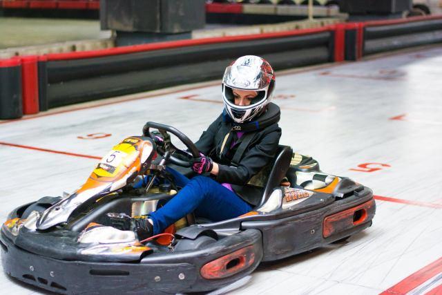 Cristina stoica karting