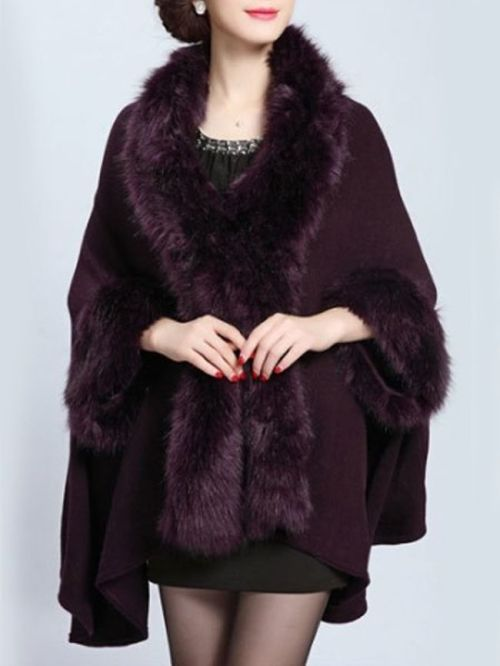 purple fur cape