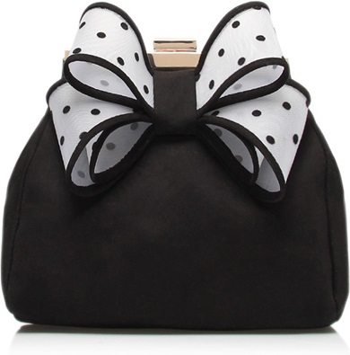 kurt geiger bow clutch