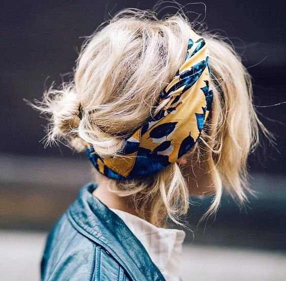 how to scarf hairstyle