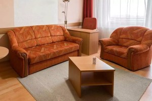 Superior apartman nappalija kanapéval, fotellel