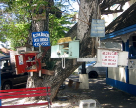State Of The Art Technology At Our Famous Bajan Telephone Tree!