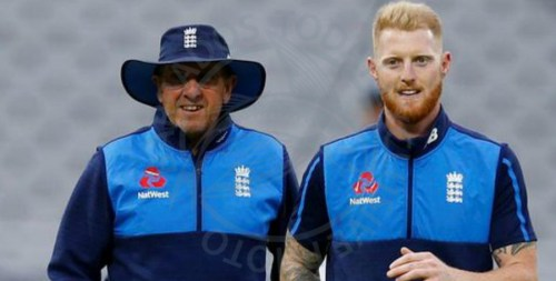 Ben Stokes (right) and Trevor Bayliss