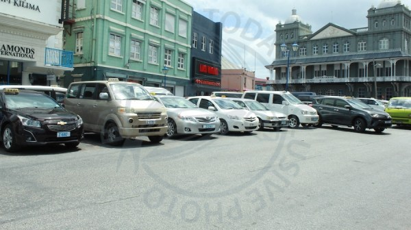 It was a slow day for many taxi operators in Bridgetown.