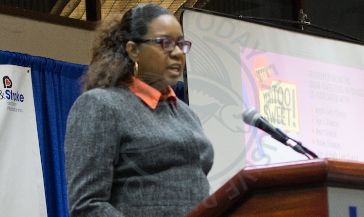 PAHO's Country Programme Specialist Dr Patrice Lawrence-Williams