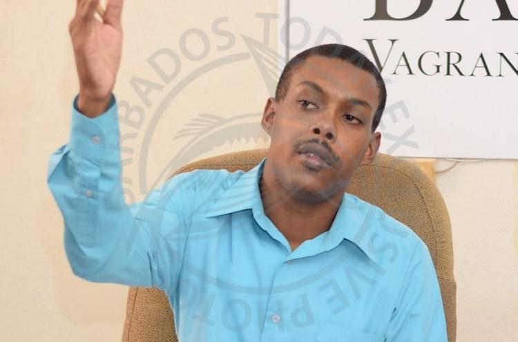 President of Barbados Vagrant and Homeless Society Kemar Saffrey