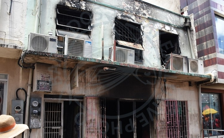 B Sharp textile store and AJ's Deli in Swan Street, The City were destroyed by fire last night.