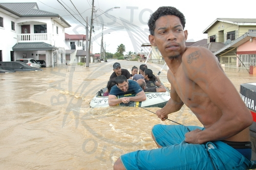 This local hero of Kelly Village made sure everyone was safe.
