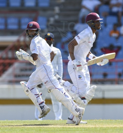 Shane Dowrich (left) and Roston Chase two of the Windies players who Barbados hope will be available to face Guyana Jaguars.