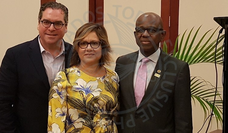 From left) Chief Marketing Officer of the CHTA Matt Cooper, President of the CHTA Affonso-Dass and Secretary General and CEO of the Caribbean Tourism Organization (CTO) Hugh Riley.