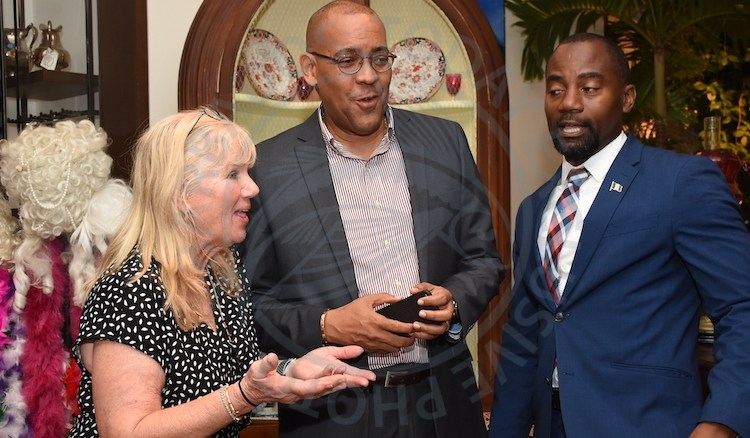 From left, Florida Caribbean Cruise Association, FCCA president Michele Paige, Minister of Tourism and International Transport Kerrie Symmonds and Minister of Maritime Affairs and the Blue Economy Kirk Humphrey.