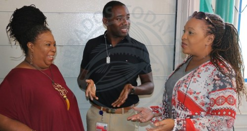 From left, lecturer in Psychology Joan C. Cuffie, senior lecturer in Management Science Dr Dwayne Devonish, and senior lecturer in Political Science Cynthia Barrow-Giles.