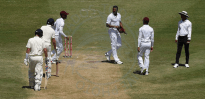 Shannon Gabriel (third right) has been charged by the ICC for alleged homophobic comments.