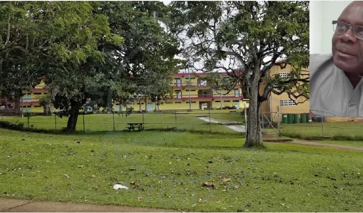 The Grantley Adams Memorial Secondary School. Inset, Principal Valdez Francis.