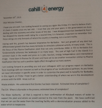 Clare Cowan writes to Chris Sinckler (1)