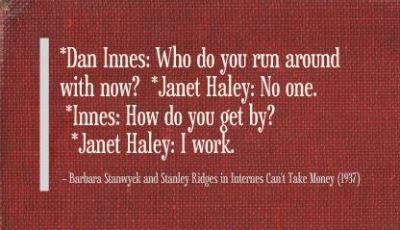 Internes Can't Take Money (1937)