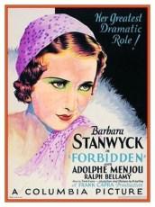 Forbidden (1932) Poster