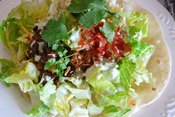 Cafe Rio Sweet Pork Barbacoa Salad