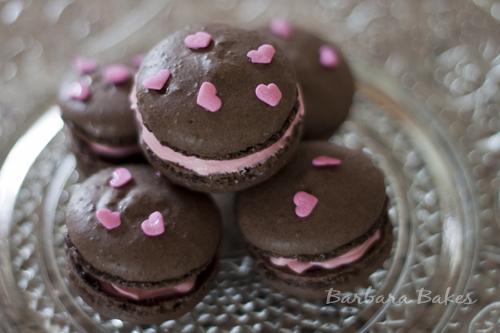 Chocolate-Pink-White-Chocolate-Macaron