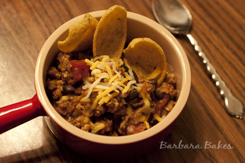 Thick Oven Baked Chili